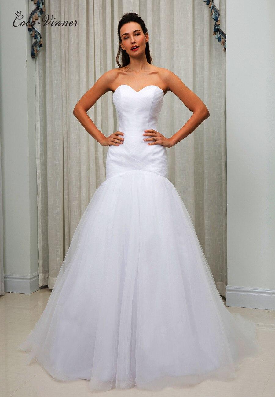 C.V Pleat Simple Elegant Mermaid Wedding Dress Vestido De Noiva Sweatheart Floor Length Plus Size Africa Wedding Dresses W0160