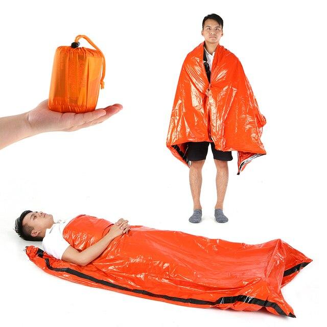 新しい高品質軽量キャンプ寝袋屋外緊急寝袋巾着袋キャンプ旅行ハイキング