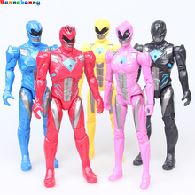 5PCS/Lot Action Figure Christmas Gifts Doll Toys Power Ranger with The joint can move the toy