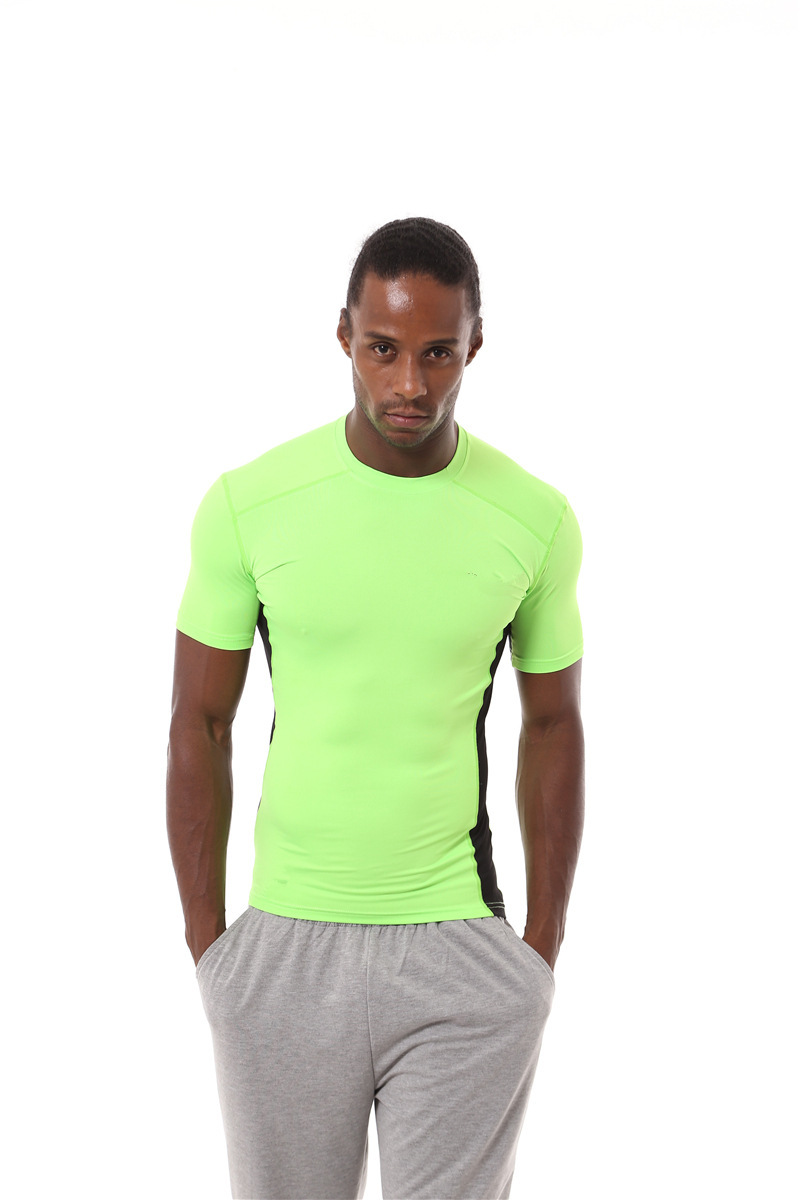 DZ18361 Fitness Sport T Shirts Men Solid Short Sleeve Homme T Shirts Running Clothing Gym Breathable Compression Quick-dryingDZ18361 Fitness Sport T Shirts Men Solid Short Sleeve Homme T Shirts Running Clothing Gym Breathable Compression Quick-drying