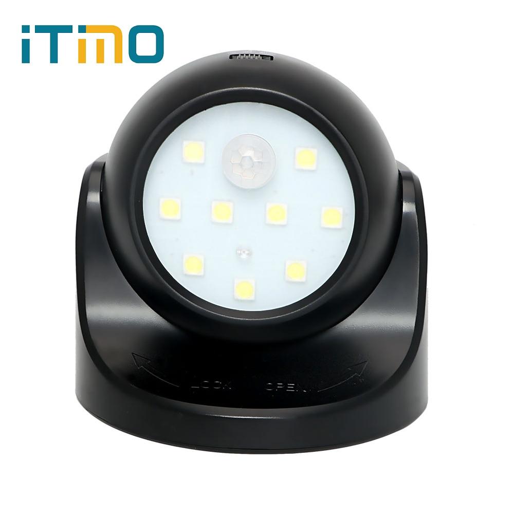 ITimo 360 Rotation with Motion Sensor Sleeping Light Kids Bedside Lamp LED Night Light PIR IR
