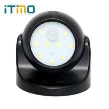 ITimo 360 Rotation with Motion Sensor Sleeping Light Kids Bedside Lamp LED Night Light PIR IR Infrared Detector 9 LED Bulbs