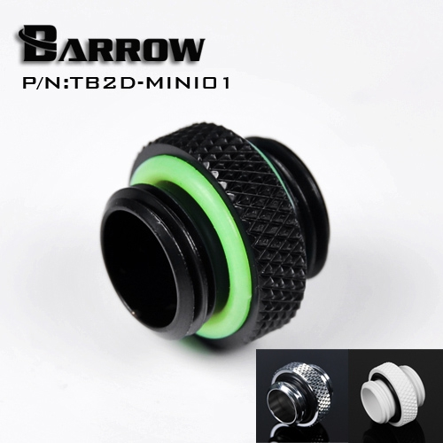 Barrow TB2D-MINI01 Male To Male Mini Fitting G1/4'' Black Silver White Gold Connection Adapter
