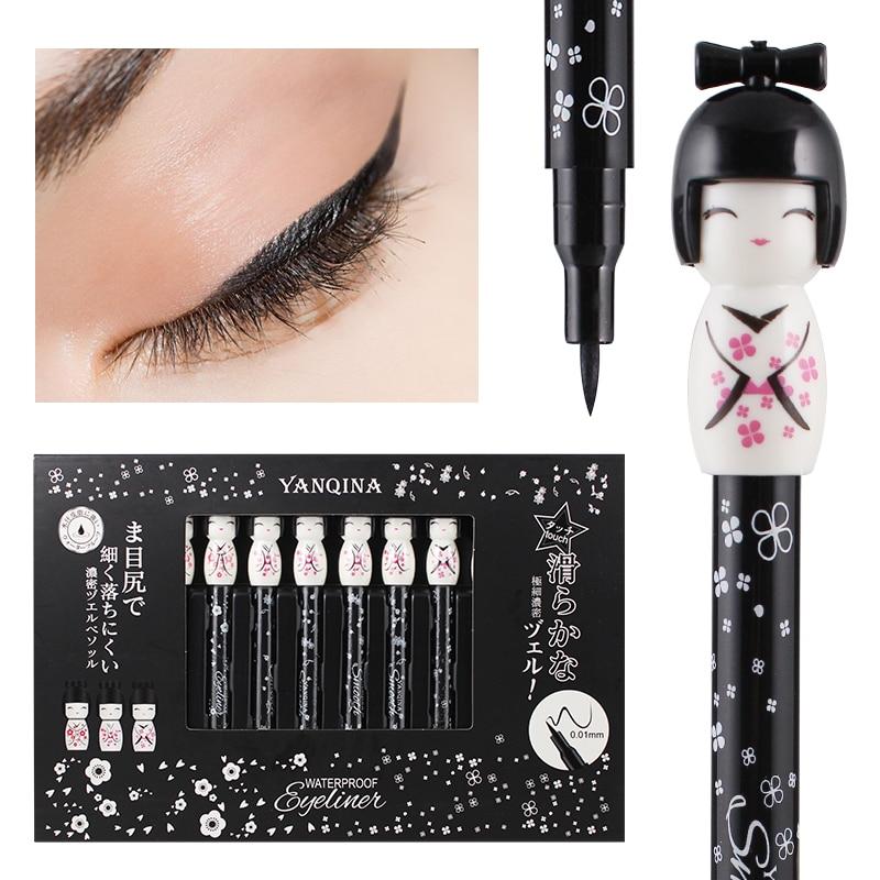 Yanqina Japanese Doll Design Eyeliner Eye Makeup Quick Dry Long