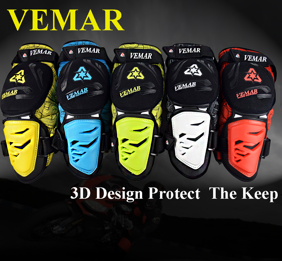 VEMAR Ignifuge Motocross Protection Genou Protector Moto Racing Équipement De Protection Ensemble Genouillère Brace Armures Moto Gardes
