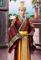 Oro Caliente Hombre Han Ropa de Danza Folk Chino Emperador Prince Muestran Vestido de Cosplay Traje Traje Antiguo Tradicional de la Ministra