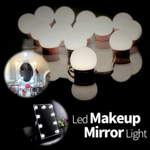 Hollywood Led Dressing Table Mirror Light USB Led 12V Vanity Makeup Light 2 6 10Bulbs Kit Make Up Mirror Wall Lamp for Bathroom