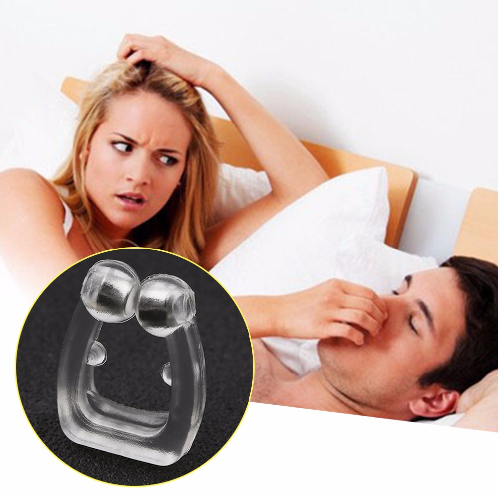1pcs Silicone Body Health Care Anti Snore Nose Clip Night Sleeping Anti Snoring Clip For Stopping Snoring in Sleep Snoring from Beauty Health
