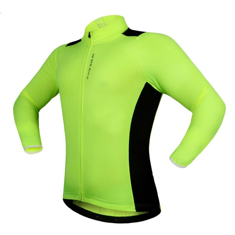 Cycling Jerseys Clothings Protect-Jackets Bike Long-Sleeve Reflective MTB Tabs Rear
