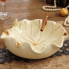 Lotus jade фарфоровая пепельница украшение для дома керамические ремесленные подарки практичное маленькое украшение для фруктов