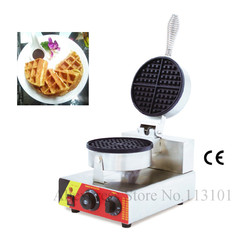 Commercial waffle machine single head 4 pcs classic mould waffle maker easy operation stainless steel waffle maker