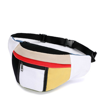 2018 Unisex Fanny Pack For Women Waist Bum Mini Hologram Bag Belt Patchwork Money Phone Men Chest Pochete Purses Travel Pouch  holographic belt purse