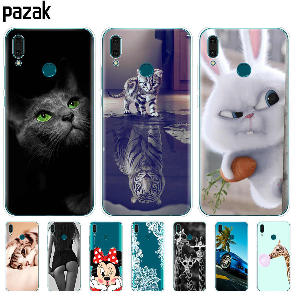 Huawei Y9 2019 Case Huawei y9 2019 Silicone TPU Cover Soft Phone Case For Huawei Y9 2019 Y 9  coque etui bumper 360 protective