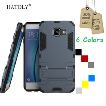 Case For Samsung Galaxy A3 2016 A310 A310F Slim Hard Back Phone Case Robot Armor Protector Hybrid Rugged TPU Stand Cover Coque
