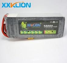 Фотография XXKLION 14.8V 16000 mah drone battery FPV battery 4S 25C air plane use power battery high quality lithium battery