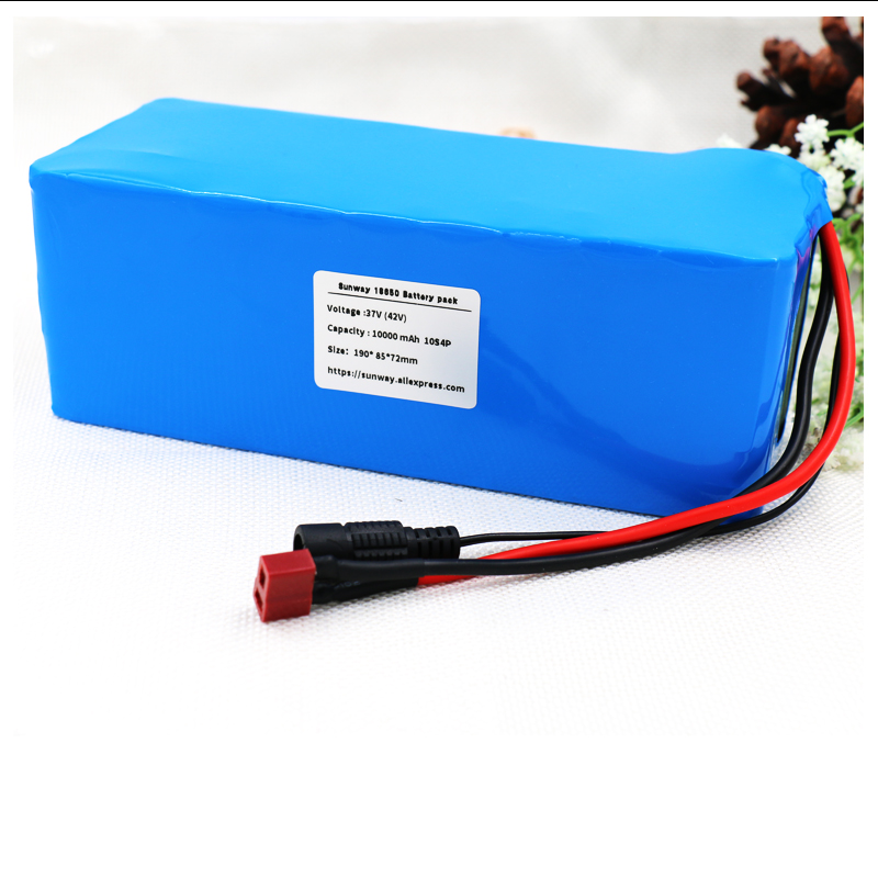 Sunway 36V 10000mah 500W High power&capacity 42V 18650 lithium battery pack ebike electric car bicycle motor scooter with BMS