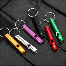 Emergency Survival Whistle Mini Size Multifunctional Aluminum Alloy Whistle Camping Hiking Outdoor Sports Emergency Whistle creeper outdoor sport emergency aluminum alloy whistle black