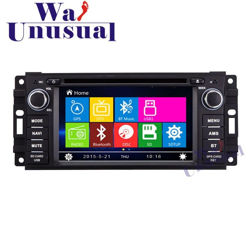 Wanusual 6.2 Профессиональный wince автомобиля Развлечения Системы GPS навигации для Jeep Commander для Jeep Wrangler с 8 ГБ Бесплатная карты