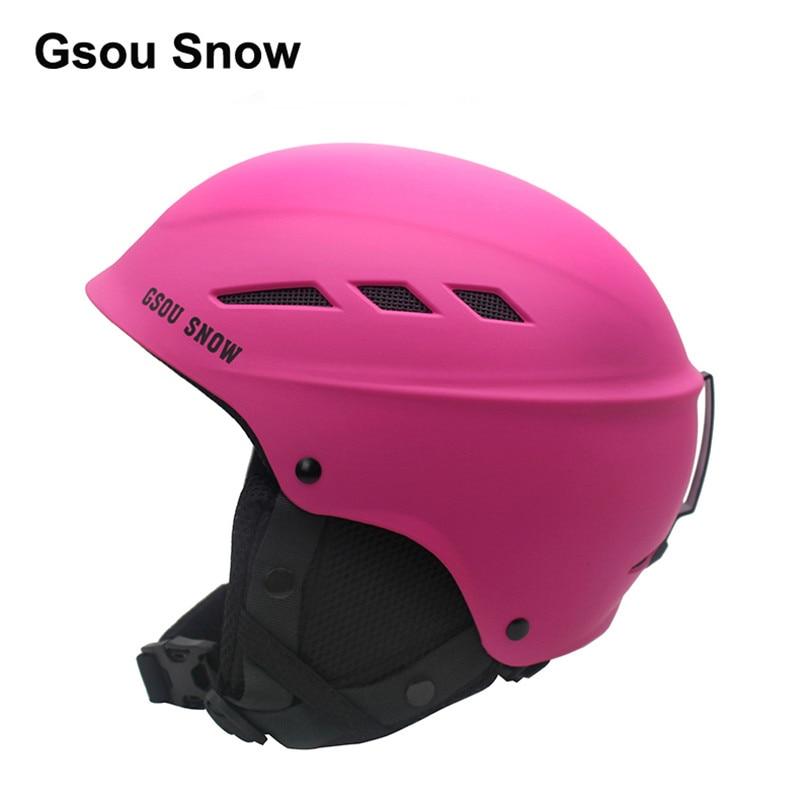 ФОТО Gsou Snow Adult Women Ski Helmet Winter Sport Protection Equipment Men Snowboard Safety Helmet