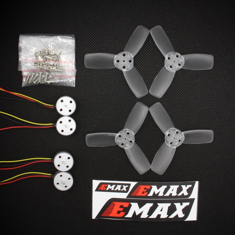 EMAX RS1104 5250KV Brushless Motor + 2345 CW CCW Propellers Violence For 130 FPV original emax rs1104 5250kv brushless motor t2345 tri blades propellers cw ccw props for 130 rc brushless racer drone q20400