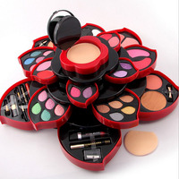 MISS ROSE felower Eye Shadow Plate big size Plum Blossom Rotating set Eye Shadow Box Cosmetic Case Makeup Palette Makeup Tools
