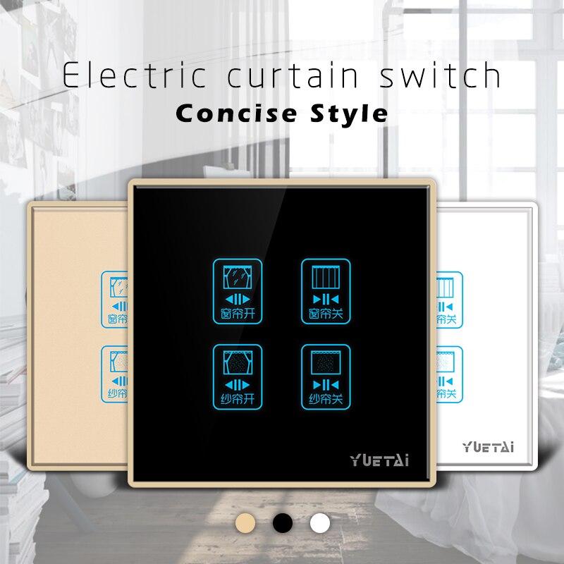 2017 interrupteur à rideau électrique 4 bandes trois couleurs