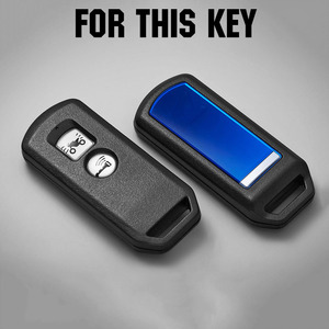 Image 2 - For Honda PCX 150 hybrid X ADV SH125 Scoopy SH300 Forza 125 300 Silicone Motorcycle Scooter Remote Key Case Fob Cover 2 Button