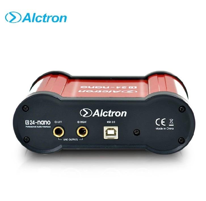 alctron u24nano 24 bit portable usb audio interface external recording sound card with 48v. Black Bedroom Furniture Sets. Home Design Ideas