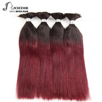 Joedir Human Braiding Hair Bulk No Attachment Malaysia Straight Bulk Hair For Braiding 1Pc Crochet Braids Remy Hair