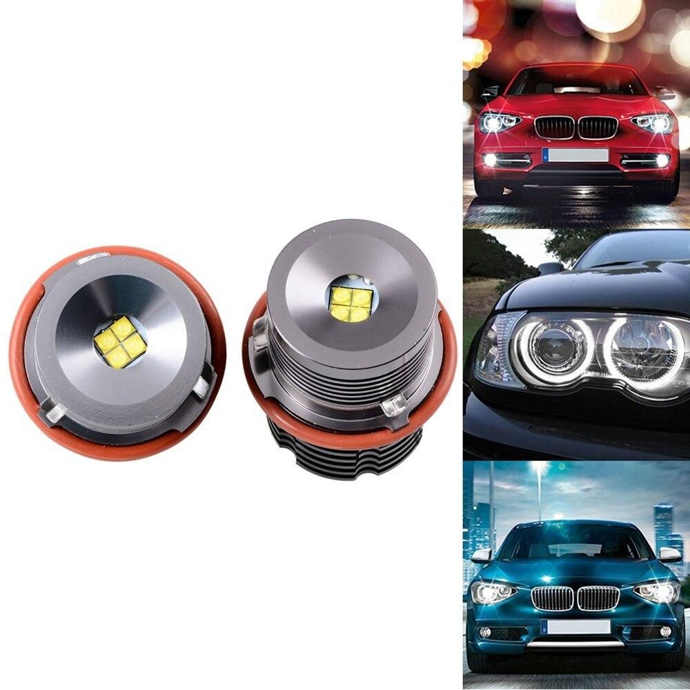 ФОТО 2x CREE Canbus LED H8 Halo Angel Eyes Bulb Light 20W for BMW E60 E61 E82 E89 E90 E92