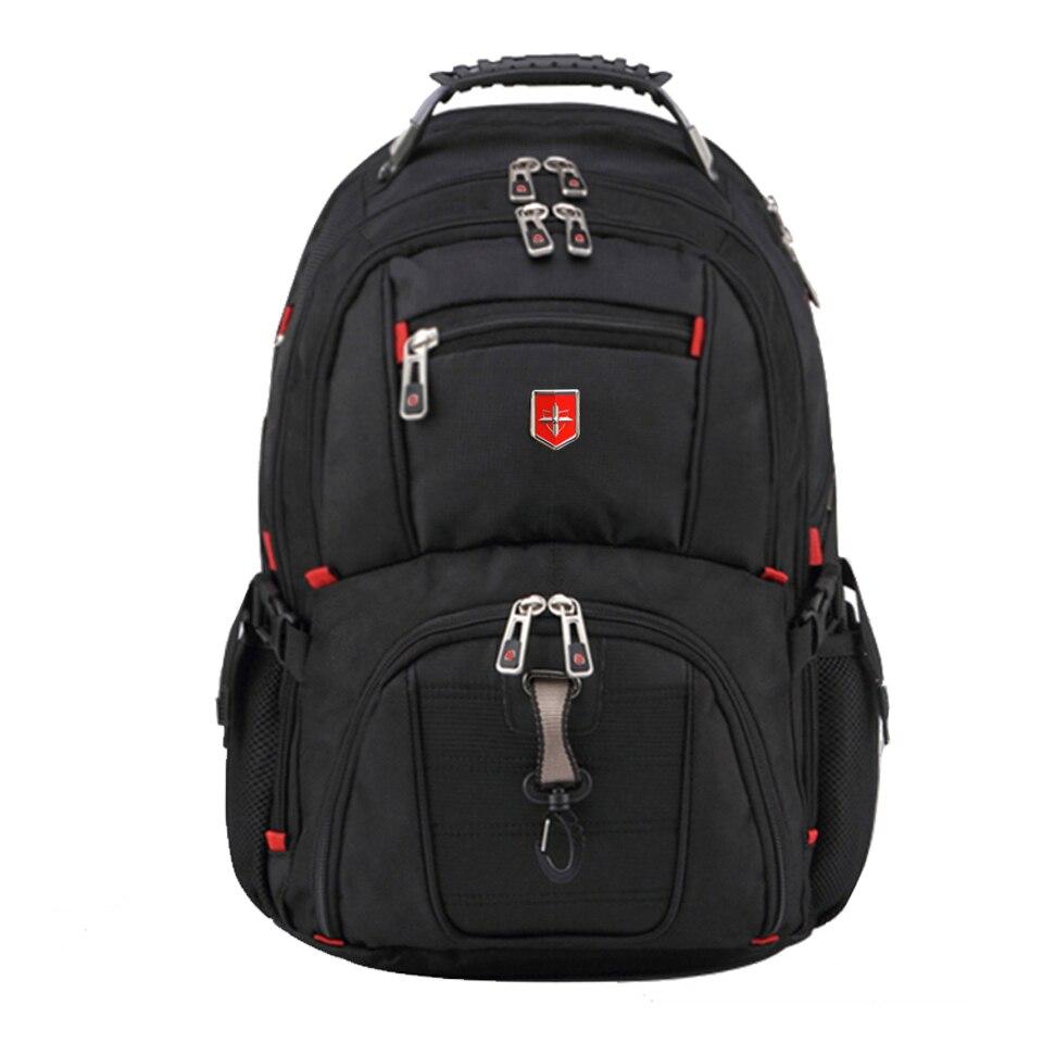Bagaj ve Çantalar'ten Sırt Çantaları'de Marka İsviçre erkek Sırt Çantası kadın Seyahat okul çantası kaliteli Dizüstü 15/17 Inç Dizüstü Bilgisayar sırt çantası su geçirmez Iş'da  Grup 1
