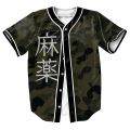men's shirts JERSEY OVERSHIRT BASEBALL SHIRT  TOPS STREETWEAR HIP HOP with Single Breasted SUMMER STYLE TEES plus size