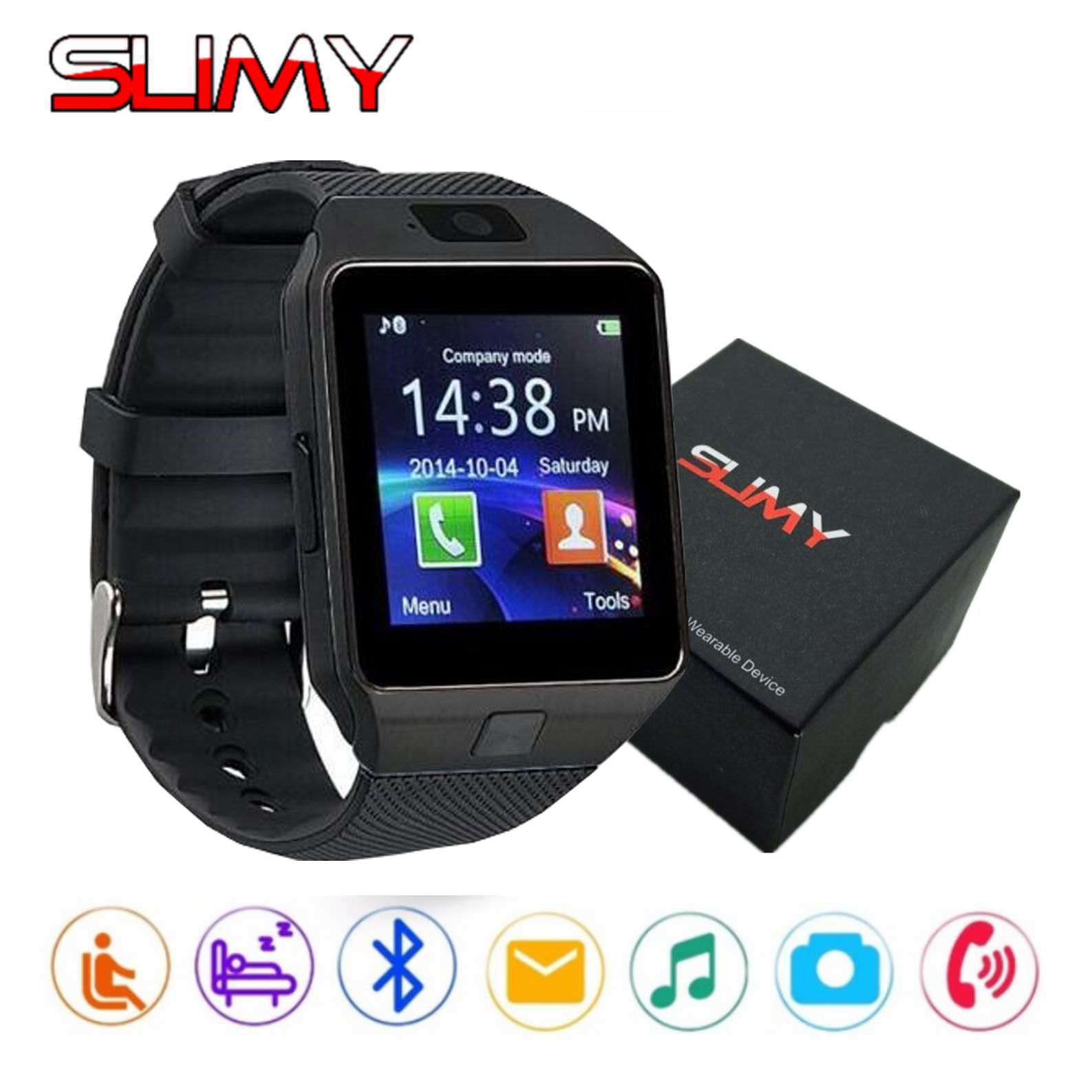Slimy Bluetooth Smart Watch Dz09 Wearable Devices For Women Men