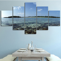 BANMU Wall Painting Sea View Stone Is Land Morden Picture Art Paint Print Painting Home Decora