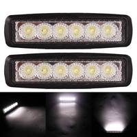 2pcs 6 Inch Inch 18W LED Work Light Spot Flood Beam 6 LED DRL For Truck