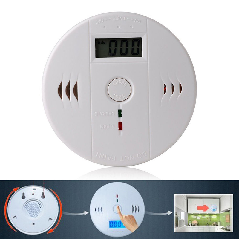 CO Carbon Monoxide Poisoning Gas Sensor Warning Alarm Detector Tester LCD White
