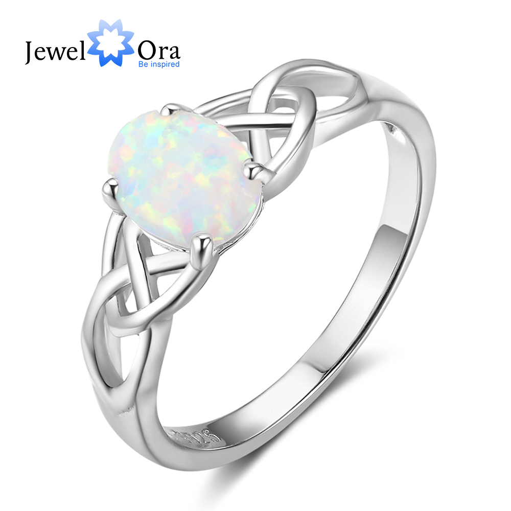 Romantic Bands: New Women 925 Sterling Silver Ring With Elliptical Blue
