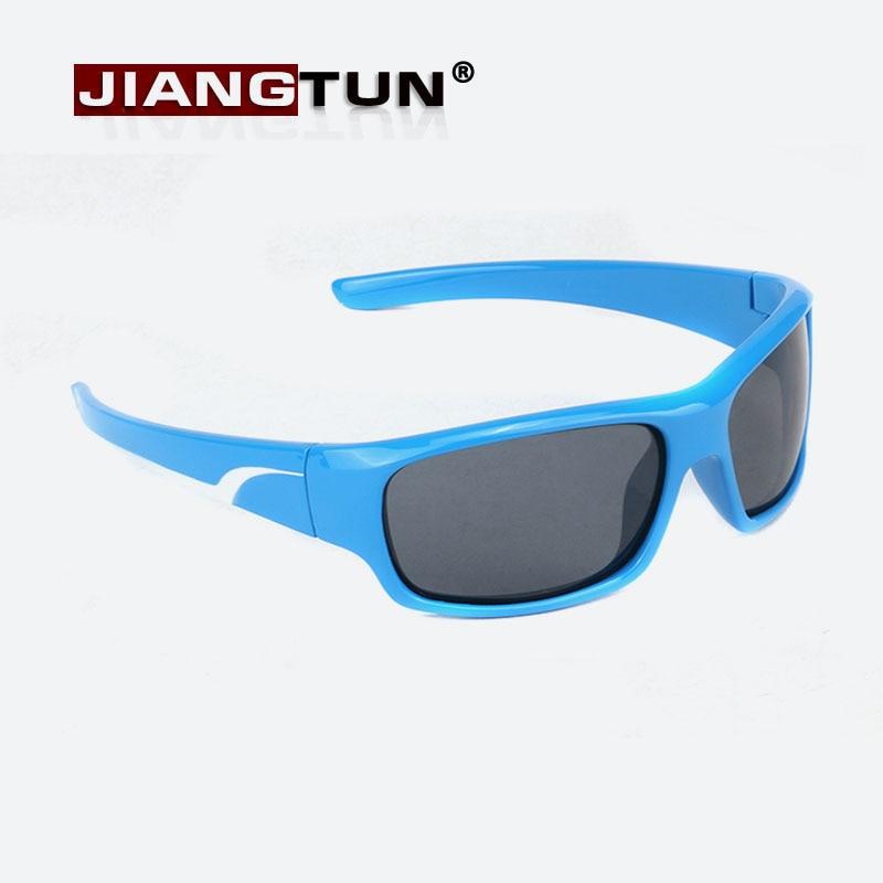 bf3de51bf157e JIANGTUN Qualidade Crianças Óculos de Sol Óculos Polarizados Óculos de Sol  da Criança Do Bebê Dos Meninos Do Vintage Bicolor Oculos Infantil