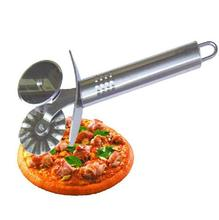 1pcs  Handheld Stainless Steel Wheel Cutter Pastry Pizza Pancake Pie Slicer Blade Drop Shipping