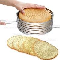Prima Espesar mousse cake máquina de cortar, molde para hornear redondo ajustable con gradas, accesorios de cocina