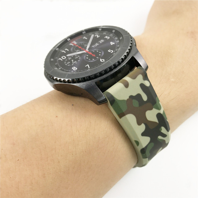 Special Design Top Quality Silicone Camouflage Sport Strap for Samsung Gear S3 Watch Band for Samsung Galaxy Watch 46mm Bracelet