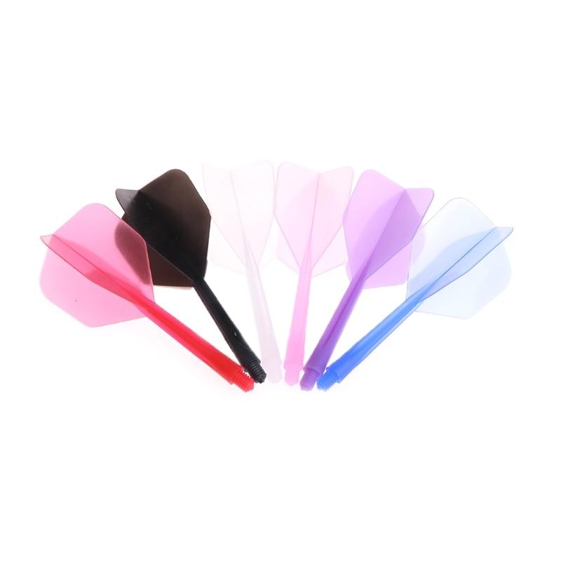 6 Pcs/set Plastic Darts Tail Professional Dart Flights 2BA Screw Soft Durable 80mm Darts Tail Kids Fun