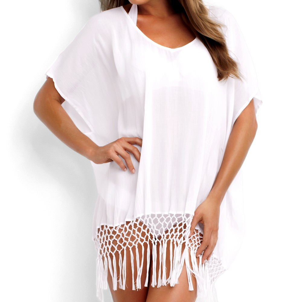 New Beach cover up Sexy Womens tassel Swimsuit cover up 3 color Summer Beachwear Bathing suit cover ups sexy dress Beach Tunic