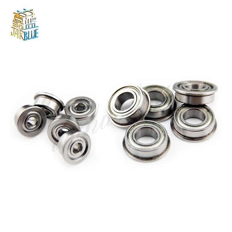 10 Flanged Ball Bearings 5x8x2.5 mm 5x8 Flange 5mm//8mm