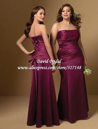 Western Style Strapless Corset Back Mermaid Bridesmaid Dress Plus