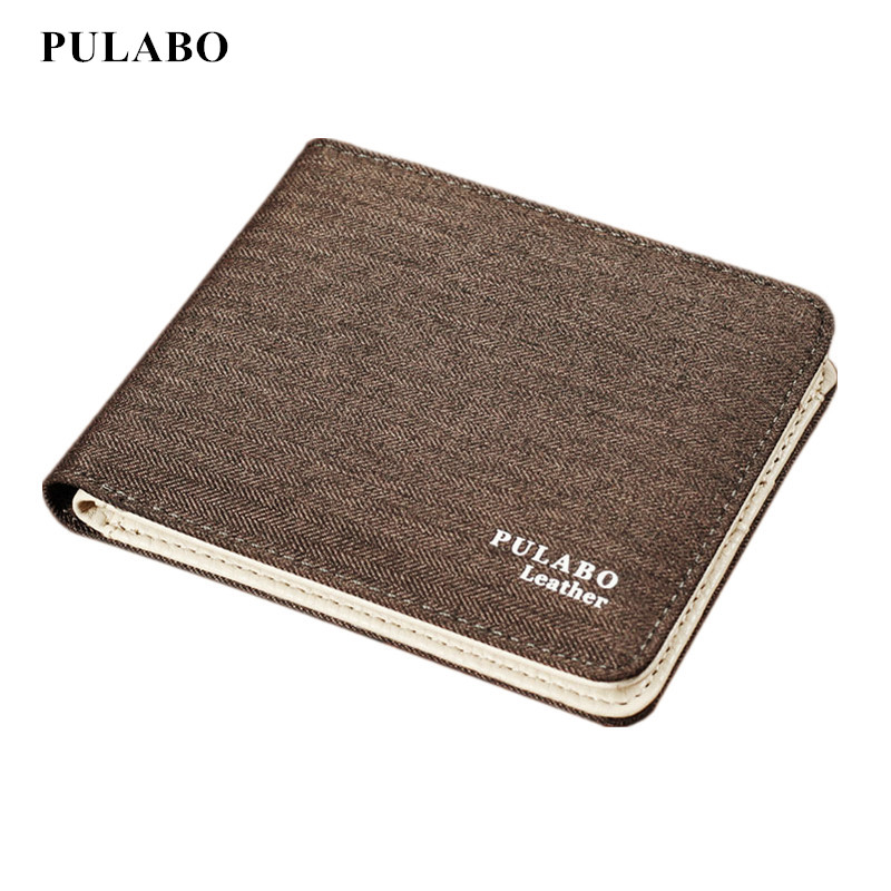 Hot Sale Fashion Men Wallets Quality Soft Linen Design Wallet Casual Short Style canvas Credit Card Holder Purse Free Shipping