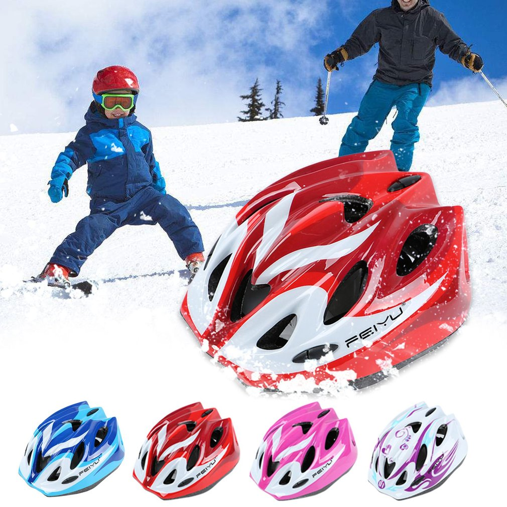 007 Children Protective Helmet Safety Skiing Skating Bike Riding Sports Equipment Outer Shell With Impact-absorbing Foam gift