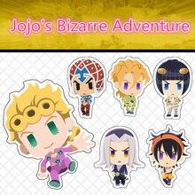 купить Anime JoJo's Bizarre Adventure Kujo Jotaro Joestar Key Chains Two-sided Keychain Cosplay Acrylic Pendant Keyring недорого