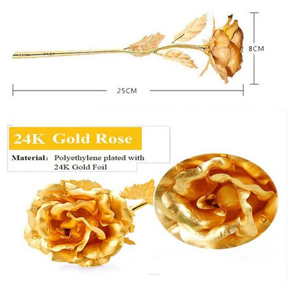 2017 wedding decoration flowers 25cm 24k gold rose easter gifts 2017 wedding decoration flowers 25cm 24k gold rose easter gifts diy artificial flowers flower romantic for lover girl friendt in party favors from home negle Choice Image