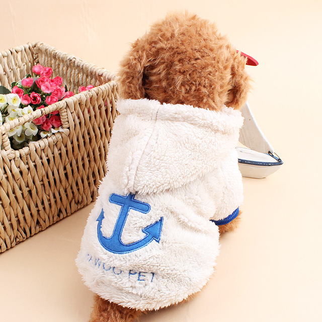 Fleece Pet Dog Clothes Warm Coat Puppy Clothes for Small Dogs Funny Costume Winter Dog Clothing Yorkie Chihuahua Clothes 9AY25